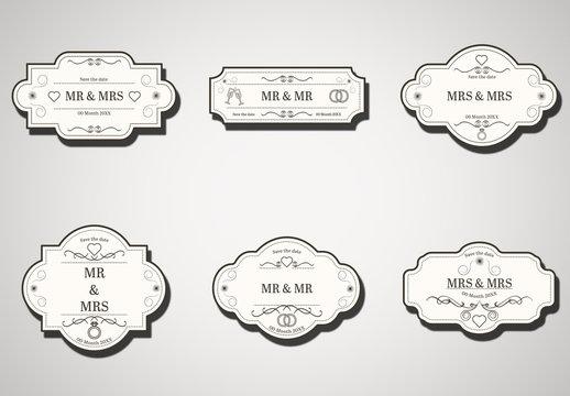 Wedding Labels Layout