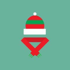 Winter cloth flat icon.