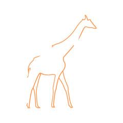 Vector logo giraffe. Brand color silhouette icon.