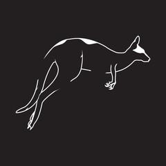 Vector logo kangaroo. Brand color silhouette icon.