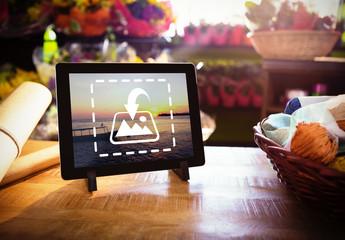 Florist's Studio with Tablet Mockup 2