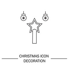 Christmas decoration vector icon.