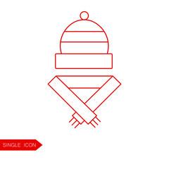 Christmas lollipop vector icon. Thin line pictogram for webdesign. Outline high quality sign for design websete, mobile app, logo.