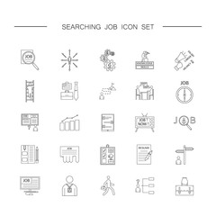 Human management icons. Job searching set. Thin line pictogram for webdesign. Outline high quality sign for design websete, mobile app, logo.