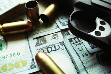Guns and Money Close Up High Quality