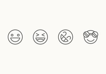 70 Minimalist Emoticon Icons