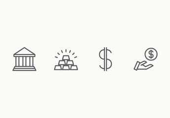 40 Minimalist Business and Finance Icons