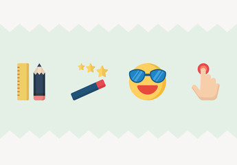 20 Actions and Emoticons Icons