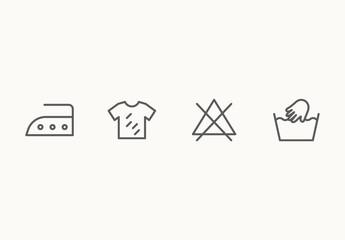 60 Minimalist Laundry and Washing Icons
