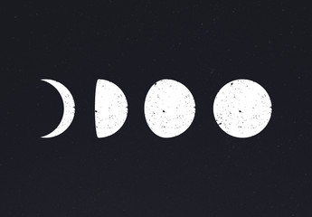 35 Moon Phases Icons