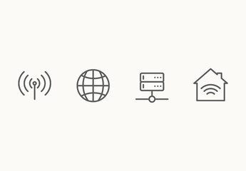 40 Minimalist Networking Icons