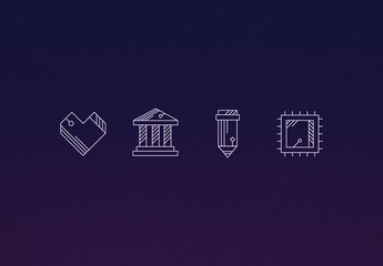 35 Stylized Geometric Icons