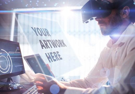 Man and Virtual Reality Headset 2