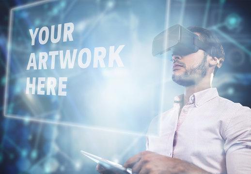 Man and Virtual Reality Headset 4