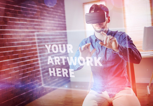 Man and Virtual Reality Headset 8