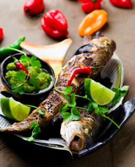 Grilled Snapper with Mango Dip