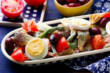 Mixed Vegetable and Sardine Salad
