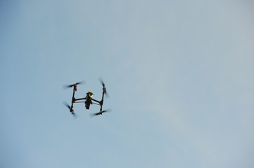Drone flying overhead