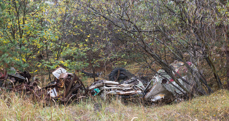 Kontaminierter Schrott bei Chernobyl