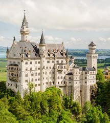 Neuschwanstein Castle located near Fussen in southwest Bavaria, Germany.