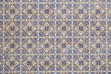 Portuguese tiles in a pattern azulejos