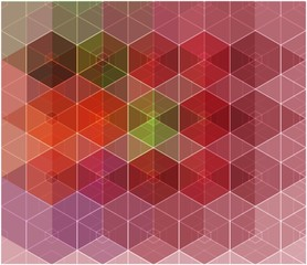 Abstract mosaic multicolor cubic geometric background.