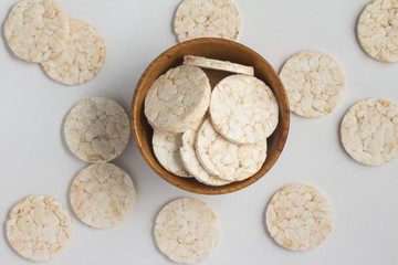 Rice cookies into a bowl