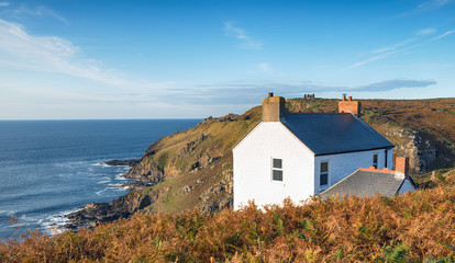 Wall Mural - Cottage on the Cliffs