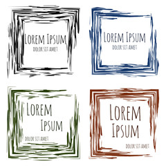 Abstract square frames for your design. Vector illustration. You
