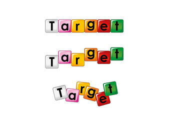 target scritta