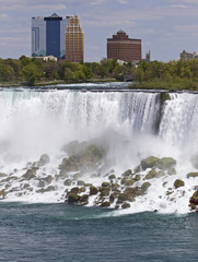 Beautiful isolated picture with the amazing Niagara waterfall US side