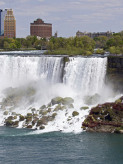 Beautiful background with the amazing Niagara waterfall US side