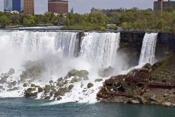 Beautiful isolated photo of the amazing Niagara waterfall US side