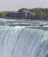 Beautiful background with the amazing Niagara falls Canadian side