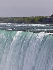Beautiful isolated photo of the amazing Niagara falls