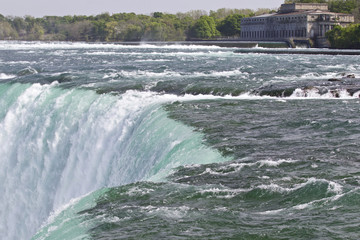 Beautiful photo of the amazing Niagara falls Canadian side