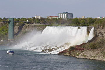 Beautiful picture with the amazing Niagara waterfall US side