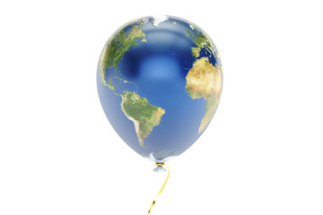Earth balloon, 3D rendering