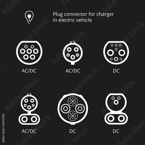 Quot Plug Connector For Charging Electric Vehicle Vector