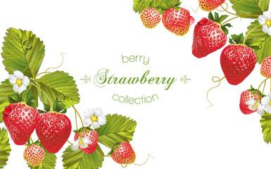 Strawberry horizontal banner