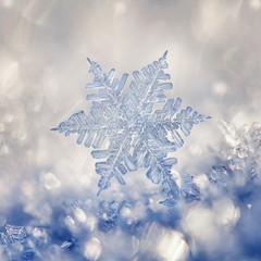 Crystal Blue Snowflake