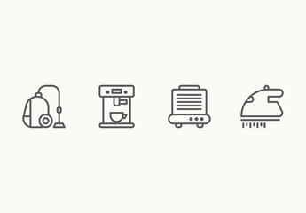 45 Minimalist Appliance Icons