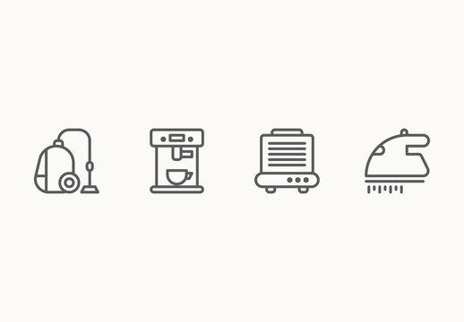 45 Minimalist Appliance Icons