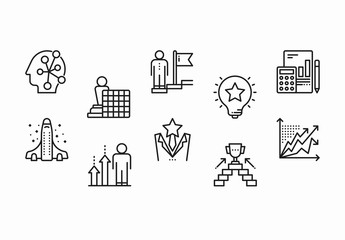 30 Black and White Building Icons