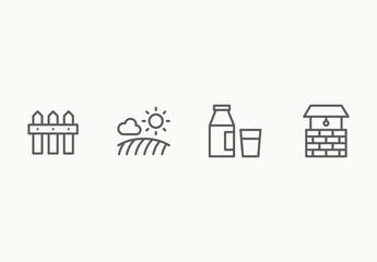 25 Minimalist Farming Icons