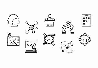 30 Black and White Communication Icons