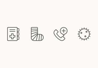 45 Minimalist Medical Icons