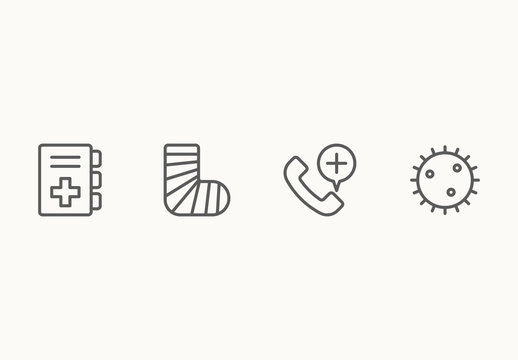45 Minimalist Medical Icons