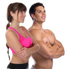 Fitness Frau Mann Bodybuilder Bodybuilding Muskeln Body Building