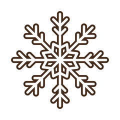 christmas snowflake isolated icon vector illustration design